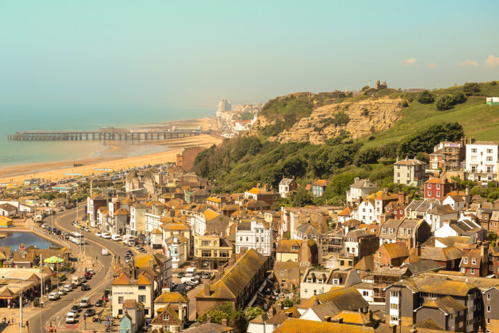 Hastings, England on a sunny day