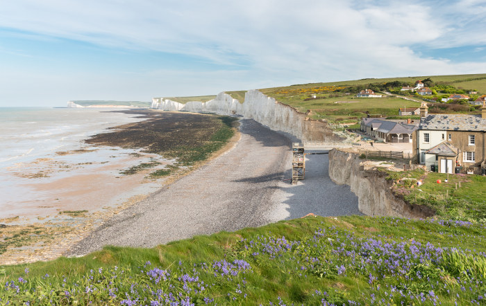 Birling Gap Seven Sisters chalk cliffs england