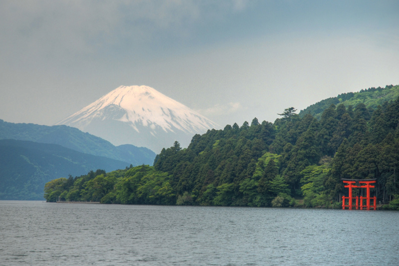 Lake Ashi in Japan