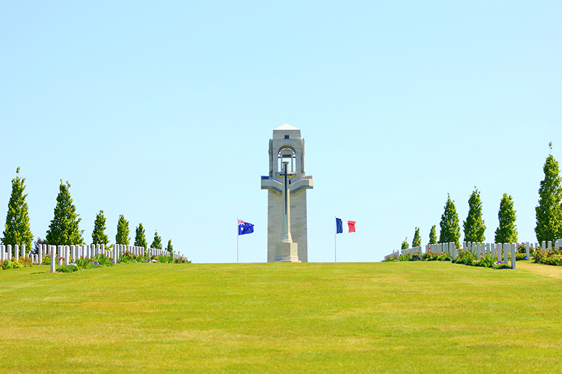Delacour's Chateaux at Villers-Brettonneux Military Cemetery in Somme, France