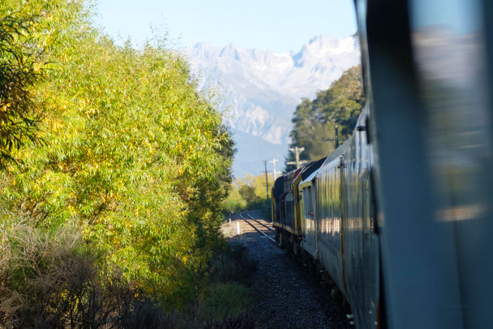 tranzalpine train to arthurs pass south island new zealand