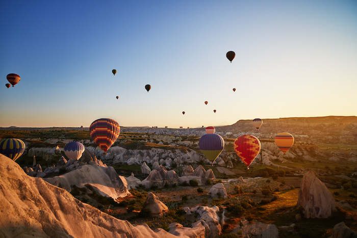 hot air balloons in cappadocia - romantic travel experiences for valentines day