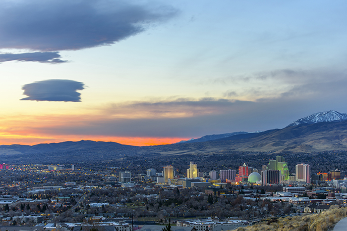 Reno nevada at dawn