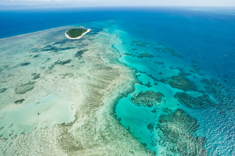 Aerial view of Green Island, Tropical North Queensland