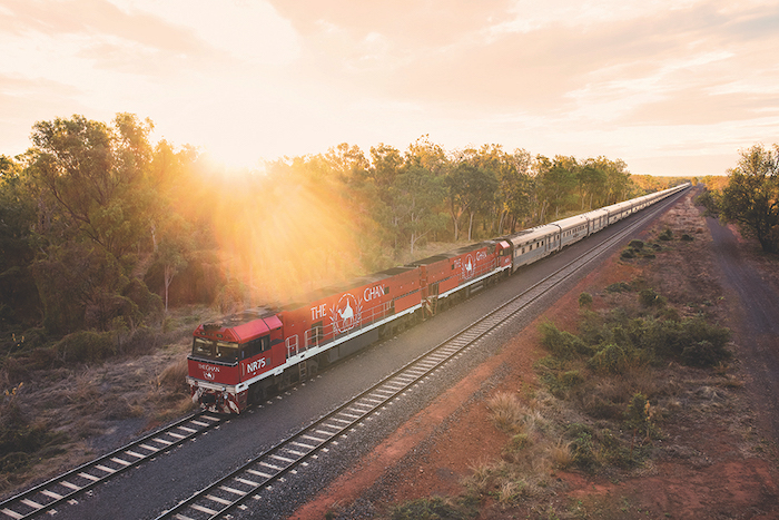 The Ghan travels through the Australian outback between Darwin and Adelaide - 14 romantic travel experiences for valentines day