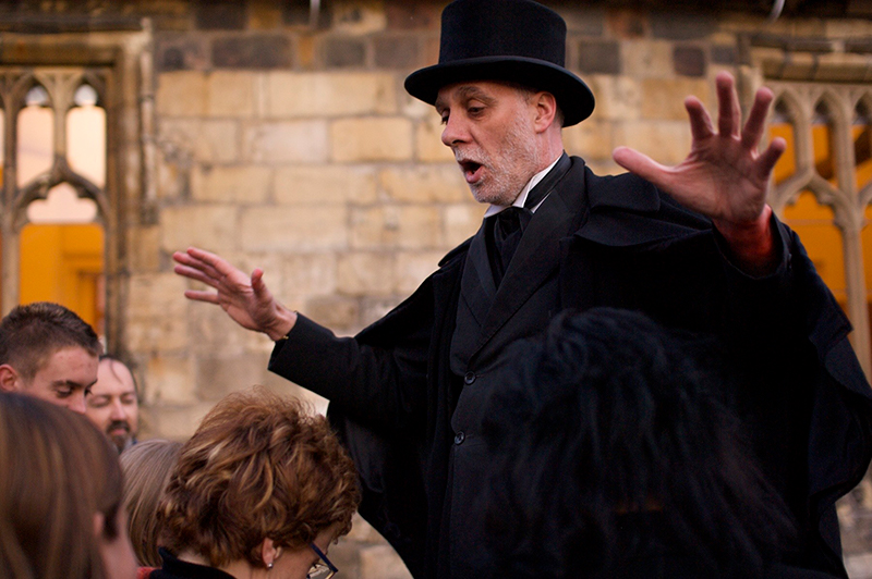 A York ghost walk tour guide.