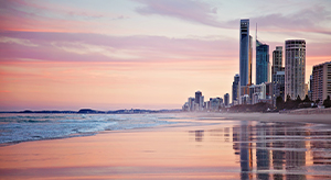 Gold Coast beach city