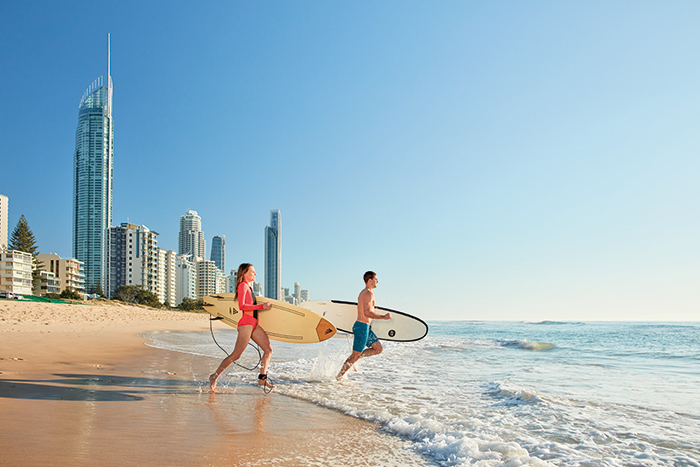 Surfing on the Gold Coast tourism event queensland