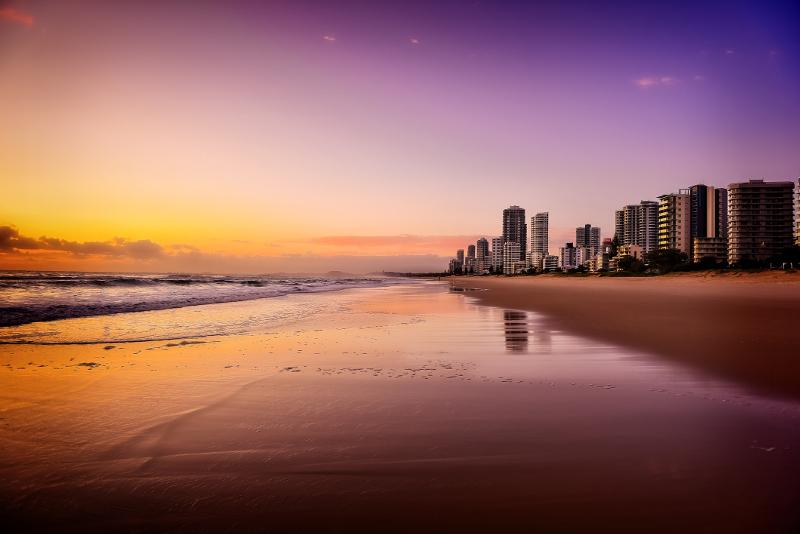 Surfers Paradise at dawn