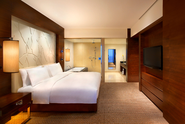 An interior view of one of the rooms at the Grand Hyatt Macau