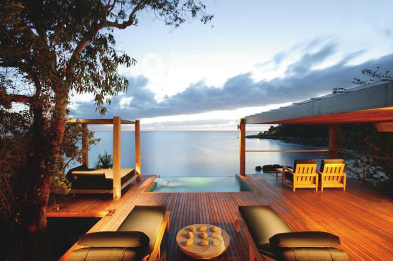 Private ocean views at Bedarra Island. Image: Tourism & Events Queensland