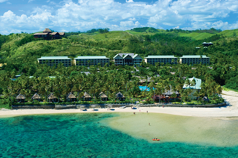 An exterior view of Outrigger Fiji Beach Resort