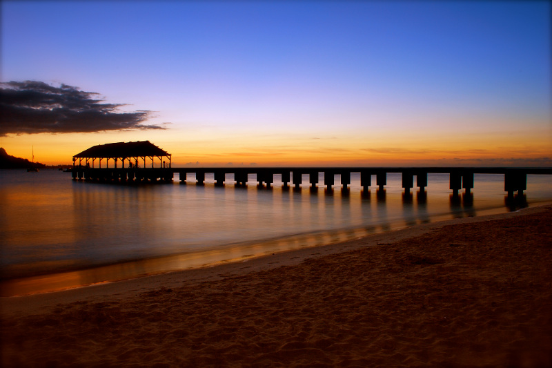 A view of the Hanalei Pier