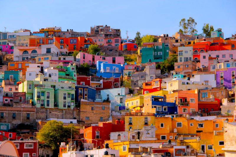 Colourful buildings in Guanajuato, Mexico.