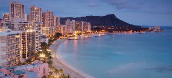 Hawaii accommodation along Waikiki