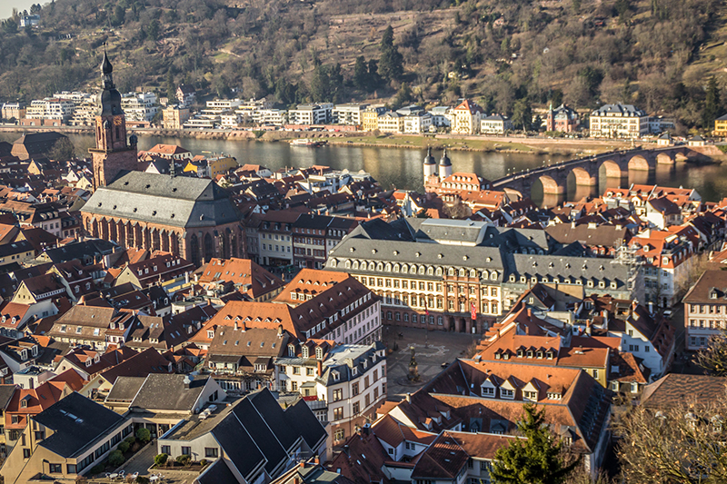 heidelberg as seen from above