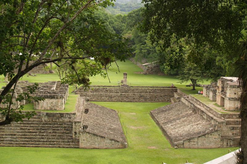 The picturesque ruins of Copan, Honduras