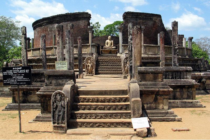 A temple at Polonnaruwa, Sri Lanka.