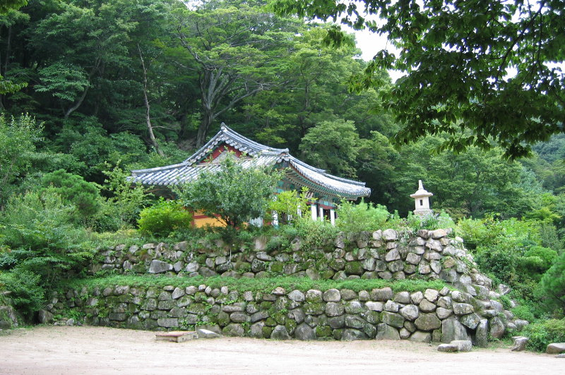 A temple in the Bulguksa complex, South Korea.