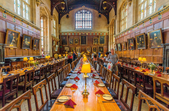 The interior of Christ Church College