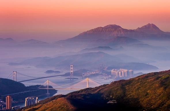 lantau peak sunrise hong kong