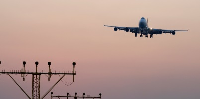 Perth to Hong Kong flight landing