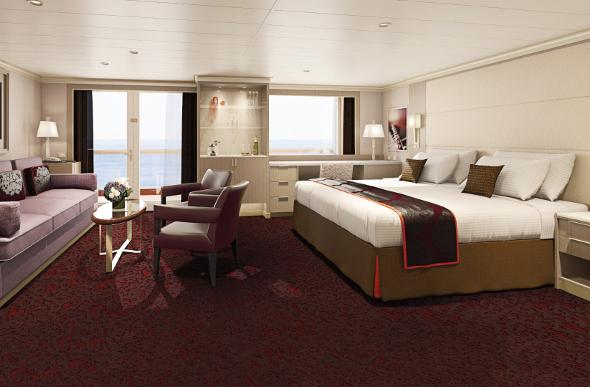 Holland America cruise line suite interior