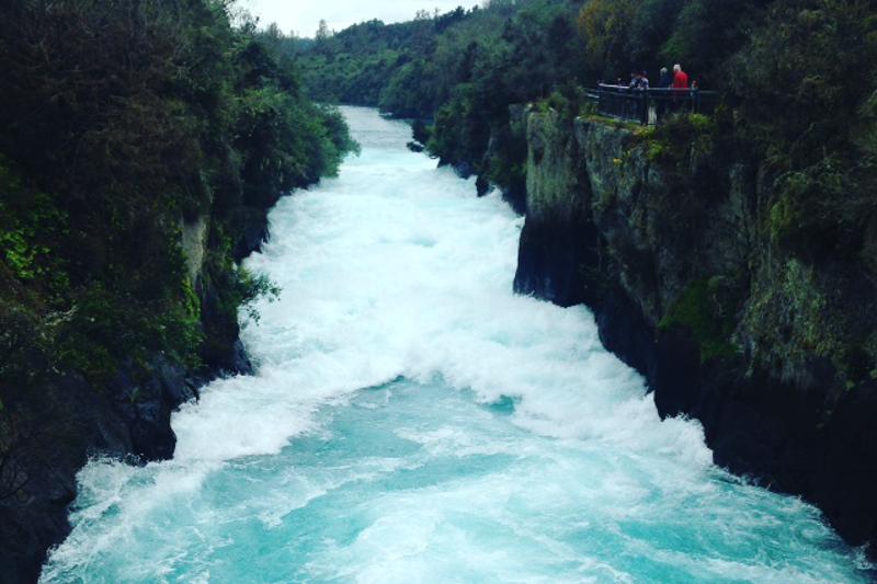 The hukafalls waterfall