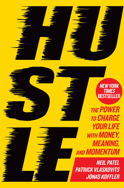 The cover of the book Hustle.