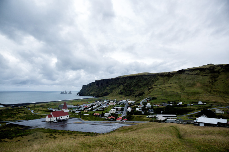 vik iceland town from above