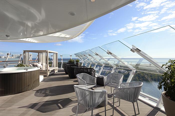 The Iconic Suite balcony celebrity edge