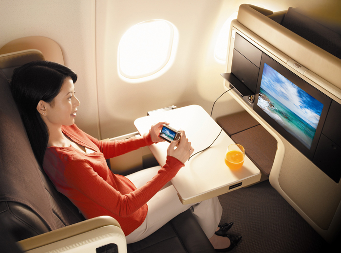 Flight review - Singapore Airlines Business Class - entertainment