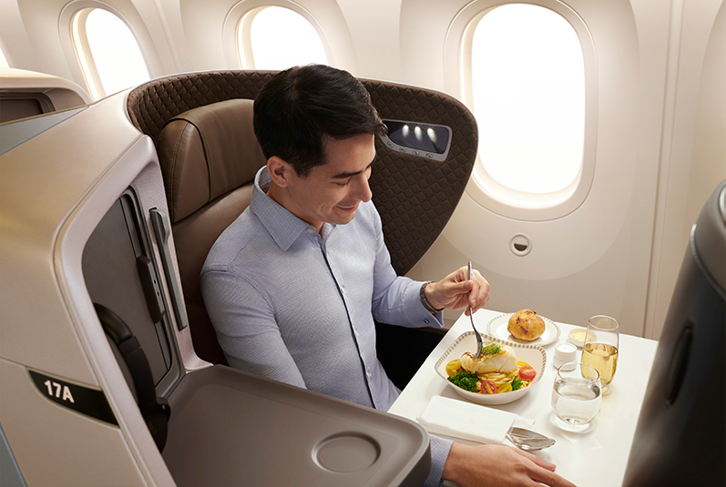 Flight review - Singapore Airlines Business Class - food