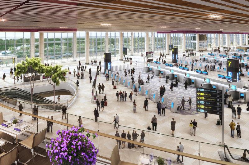 Artist's impression of interior of Changi Airport