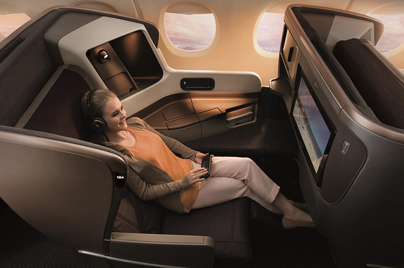 Flight review - Singapore Airlines Business Class - seat