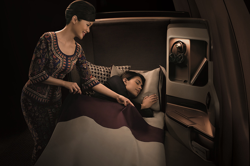 Flight review - Singapore Airlines Business Class - lay flat seat