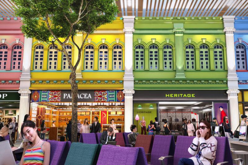 Artist's impression of Changi Airport, Singapore