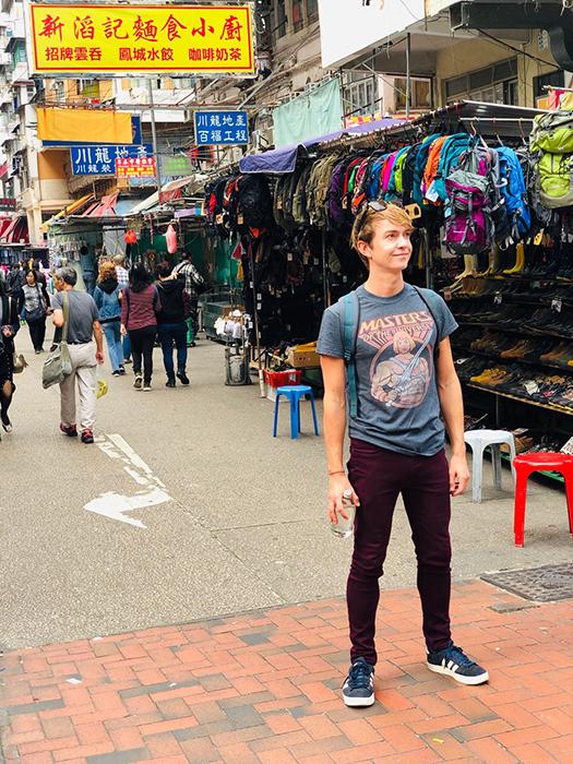 Writer Paul Ewart exploring Sham Shui Po (image: Paul Ewart)