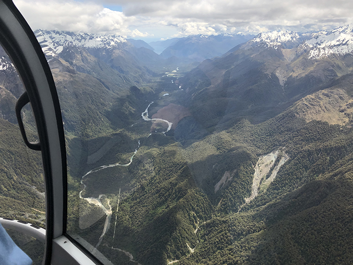 flying to Milford Sound with Over the Top Helicopters