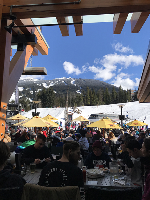 the apres ski is always worth it!
