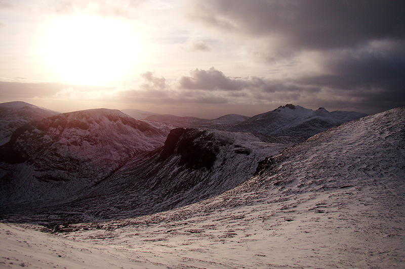Mourne Mountains in winter