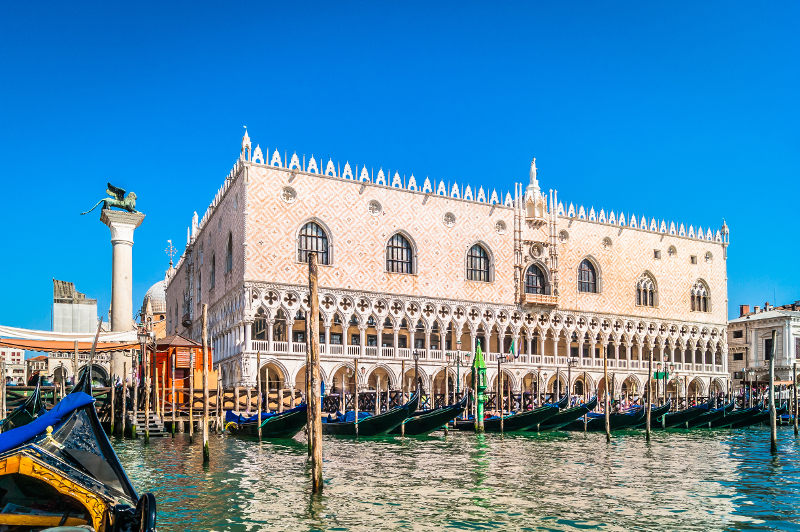 The Doge's Palace in Venice, Italy.