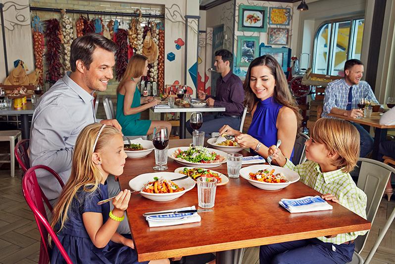 Jamie's Italian onboard restaurant