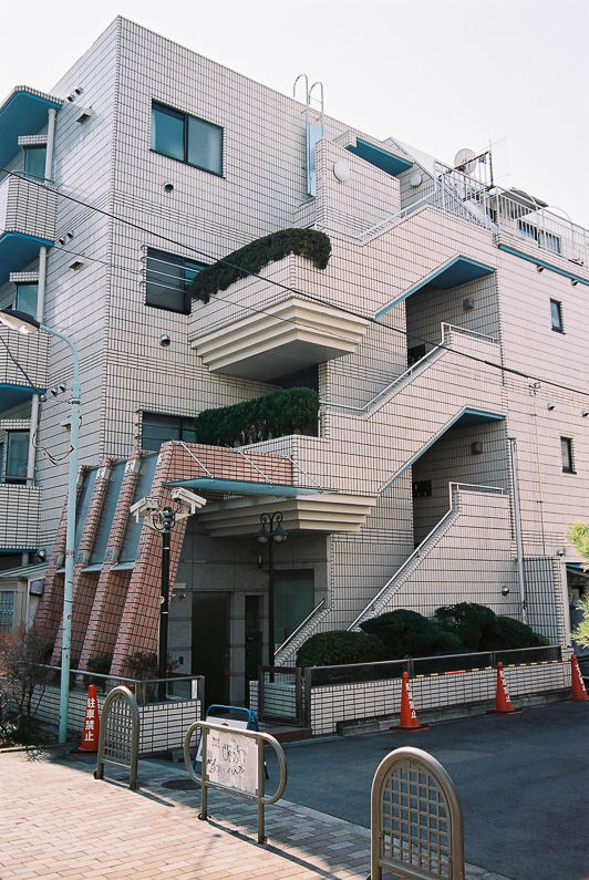 tiled apartment building in shibuya tokyo