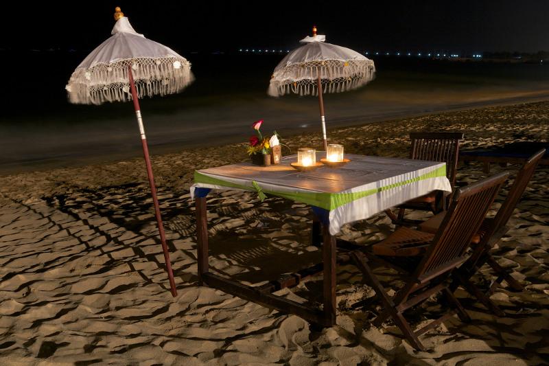 Dinner on the beach in Jimbaran Bay