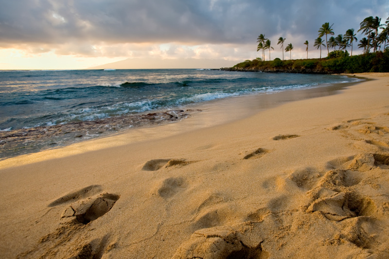 a view of the shoreline at Kapalua Beach