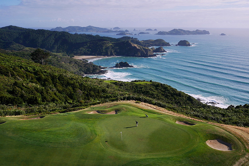 Kauri Cliffs gold course in New Zealand's North Island