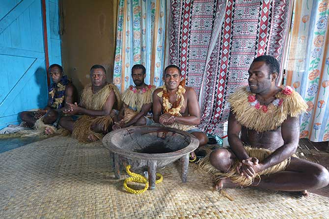 Kava is a popular traditional drink in Fiji