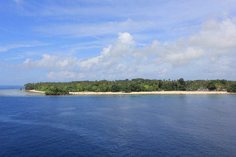 The view from the ship of Kirawina Island, PNG