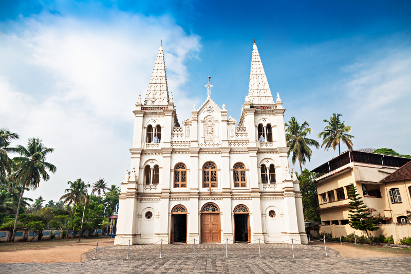 A church in tropical Kochi.